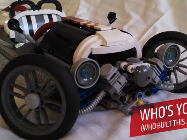 Dad Proves Kids Wrong By Making Fantastic Lego Morgan 3-Wheeler