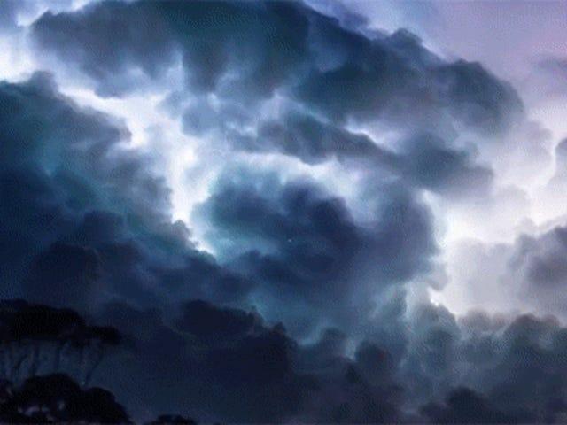 Denna åskväderförlopp är den mest skrämmande sak