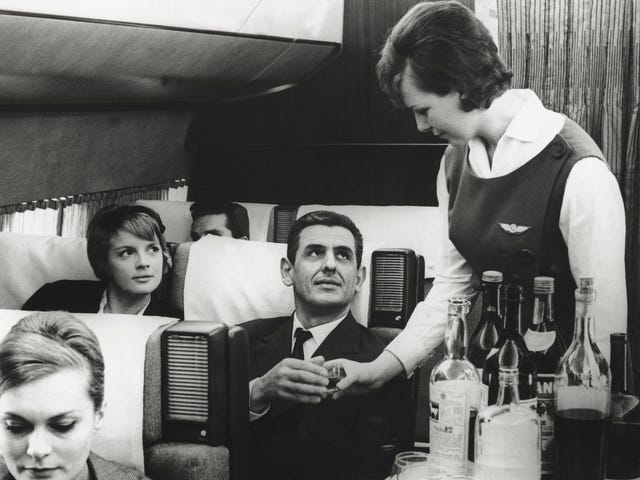 How to Get Free Drinks on a Plane