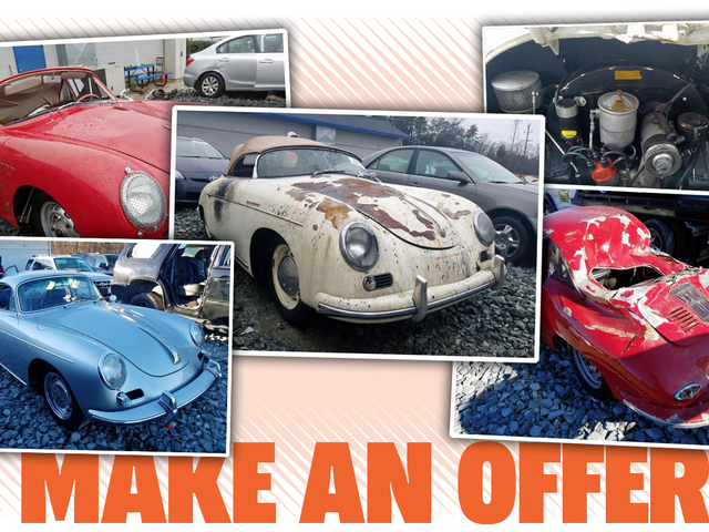 Some Of The Rare Porsches From The Ingram Collection Explosion Are Showing Up On Salvage Auction Sites