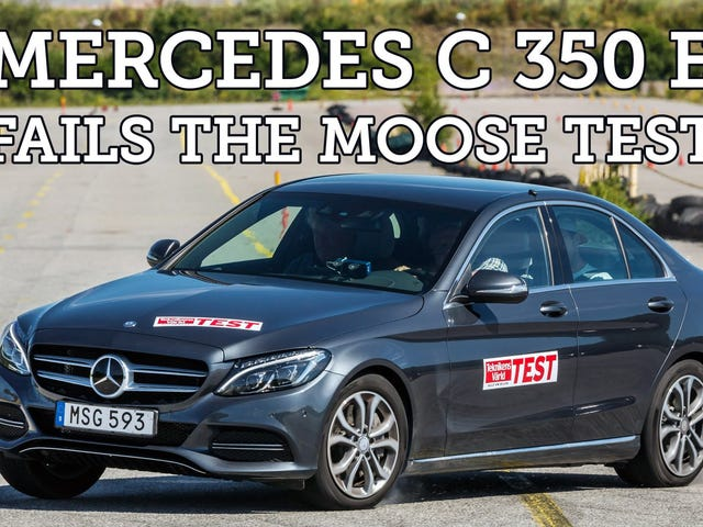 Uh, Mercedes? Your C350 Hybrid isn't all that great at the moose test.