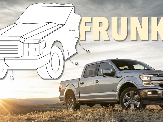 Patent Shows The Electric Ford F-150 Is Going To Get A Pretty Big Frunk