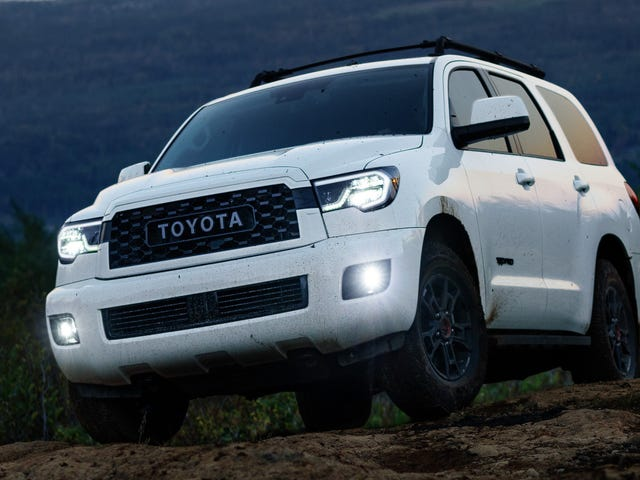 The 2020 Toyota Sequoia TRD Pro: Count the TRD Badges
