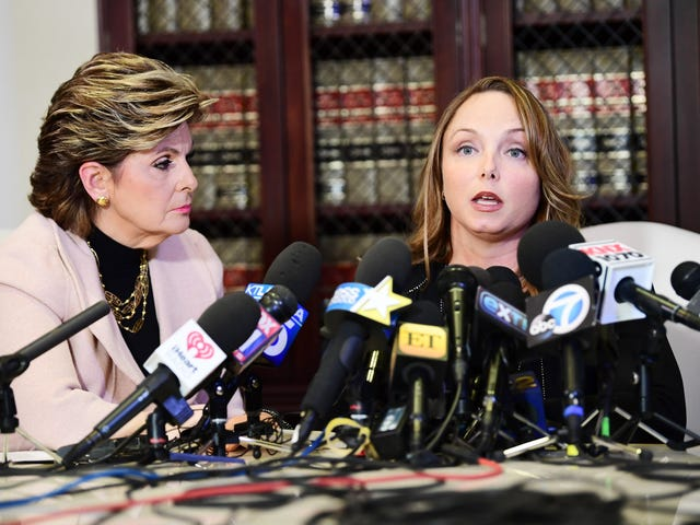 Another Weinstein accuser steps forward, with Gloria Allred at her side