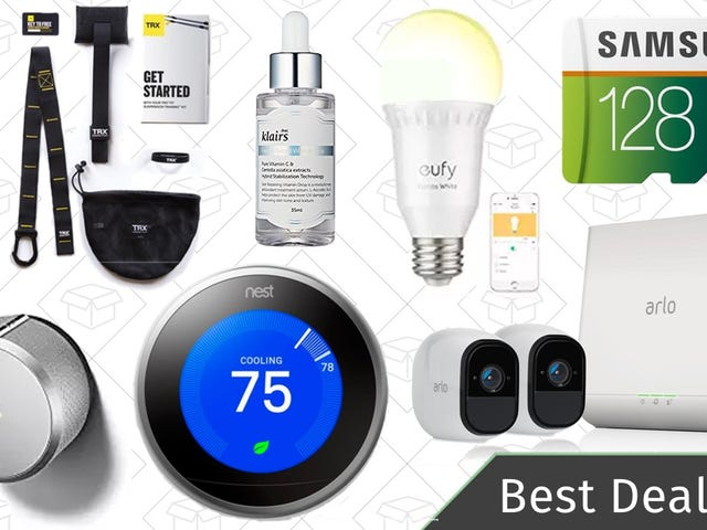 Monday's Best Deals: Smart Home Deals, MircoSD Card, TRX Training System, and More