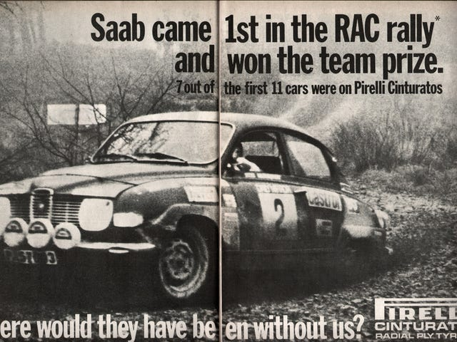 1971, SAAB wins the RAC rally
