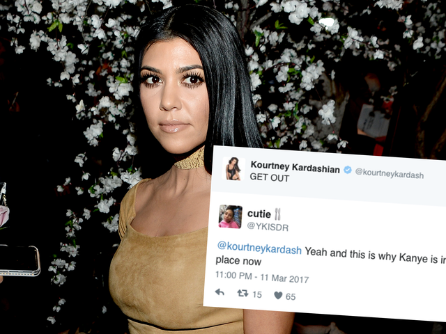 Kourtney Kardashian's Get Out Tweet Didn't Go Over Too Well