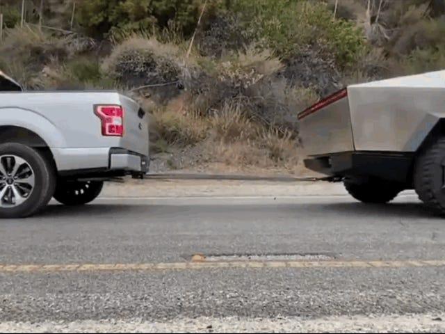 Hvorfor Teslas Cybertruck-video, der trækker en Ford F-150, har et trick, ifølge Neil deGrasse