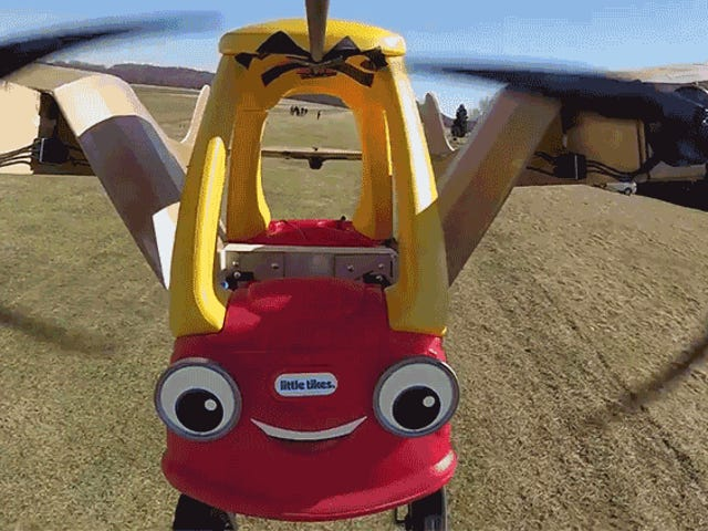 Watch These Modern-Day Wright Brothers Make a Classic Little Tikes Toy Car Fly