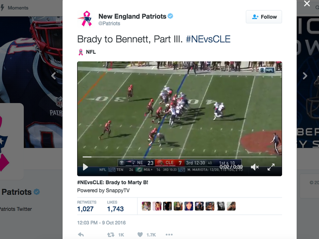 NFL warnt die Teams, keine Highlights online zu posten, und veröffentlicht dann viele Highlights online
