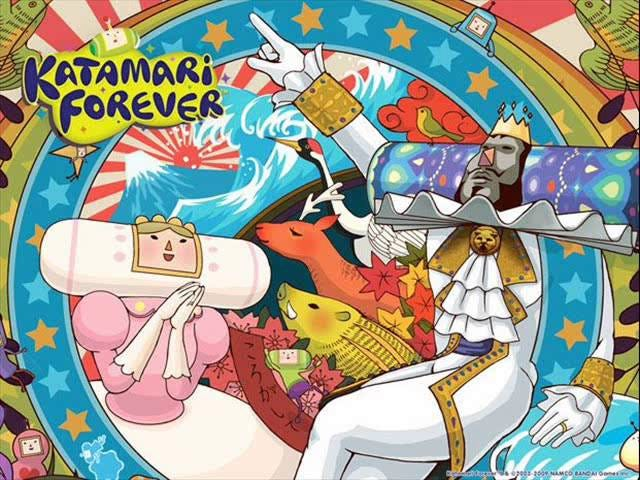 Good morning TAY! Let's listen to one of the few decent songs in Katamari Forever and turn that frow