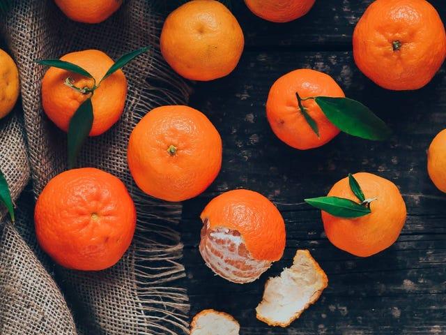 Der beste Flugzeug-Snack ist eine Mandarine