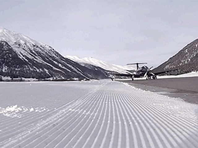 What It's Like To Snowboard Behind An AirplaneAt Take-Off Speed