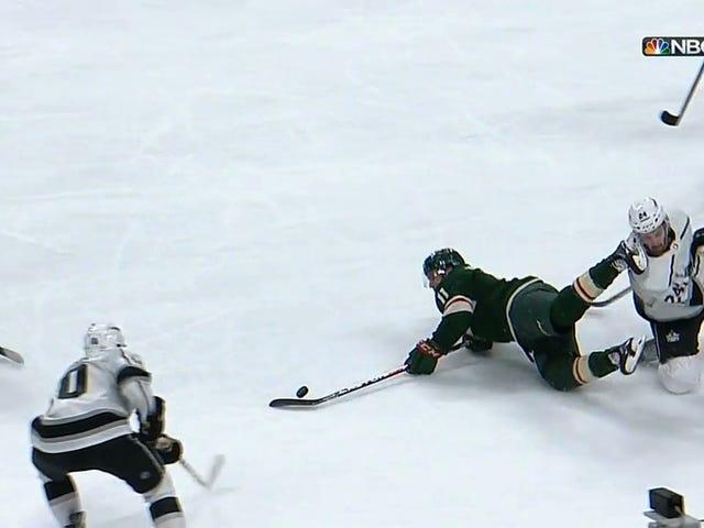 Hockey Skate Mangles Ear