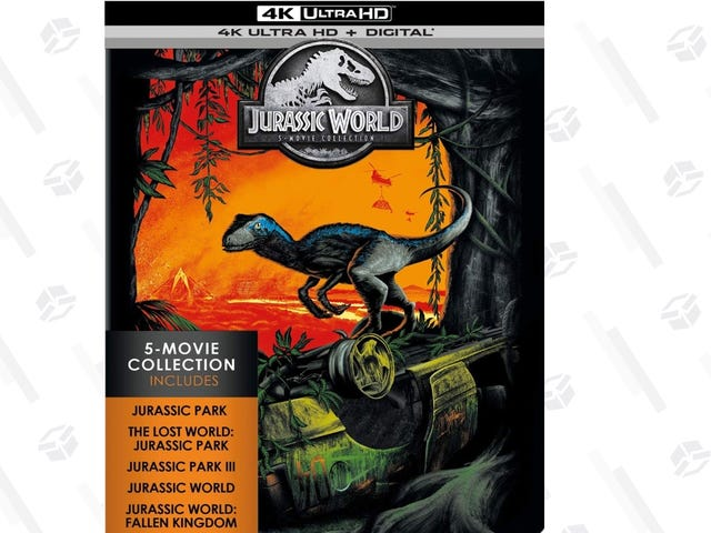 The Jurassic World: 5-Movie Collection In 4KIs Just $65 Because Amazon Uh, Finds A Way