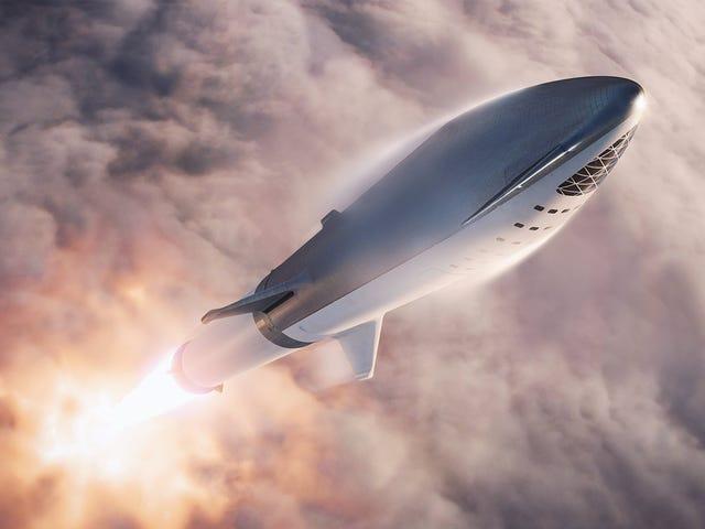 Elon Musk publica nuevas imágenes de su nave de 106 metros y 100 pasajeros para viajar a Marte