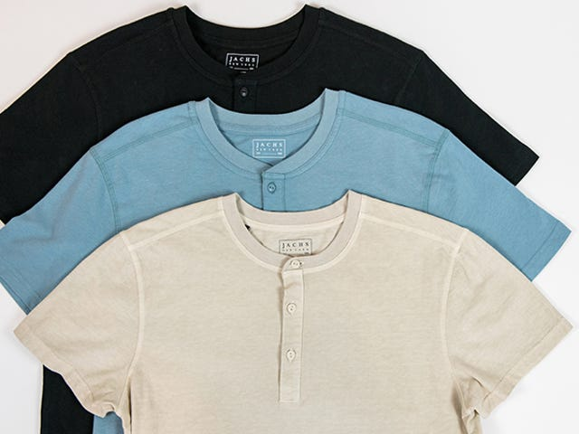 Take 60% Off Jachs' Cotton Knits Including Henley's, Tees, & More (From $18)
