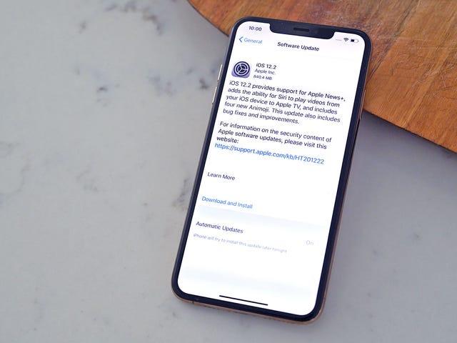 Necesita actualizar a iOS 12.2 ahora mismo para reparar más de 50 agujeros de seguridad