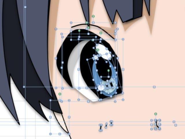 Ilustracje w stylu anime stworzone w programie Microsoft Excel