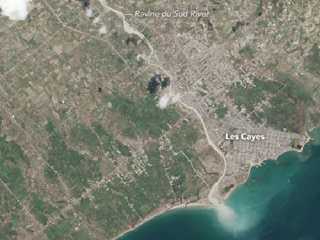 Satellite Images Show Haiti Stripped Bare by Hurricane Matthew