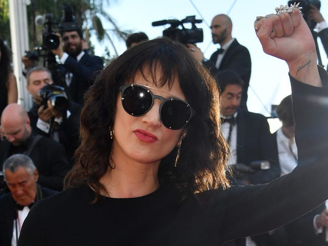 Asia Argento exorcises Harvey Weinstein from Cannes in powerful closing-night speech