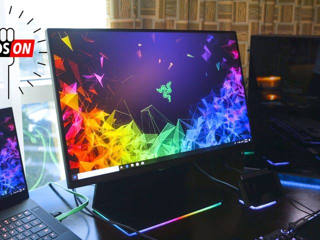 Razer's First Foray into Gaming Monitors is a Show Stopper