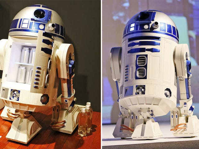 The Only Thing Cooler Than an R2-D2 Fridge Is an R2-D2 Fridge With a Built-In Projector