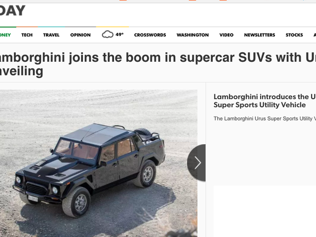 I Like The USA Today Take On The New Lamborghini Urus Better Than The Real Thing