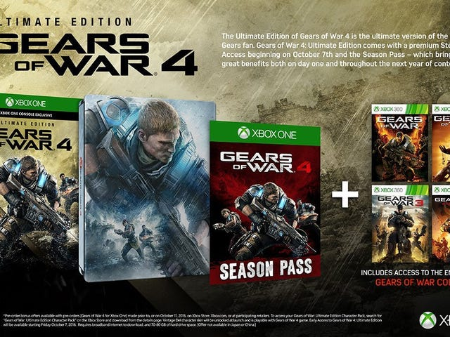 Grab a Discounted Gears of War 4: Ultimate Edition for Xbox One