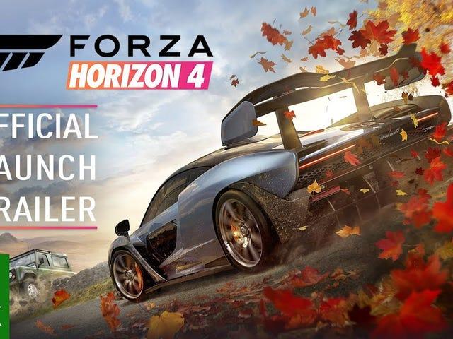 The Forza Horizon 4 launch trailer isn't as hype