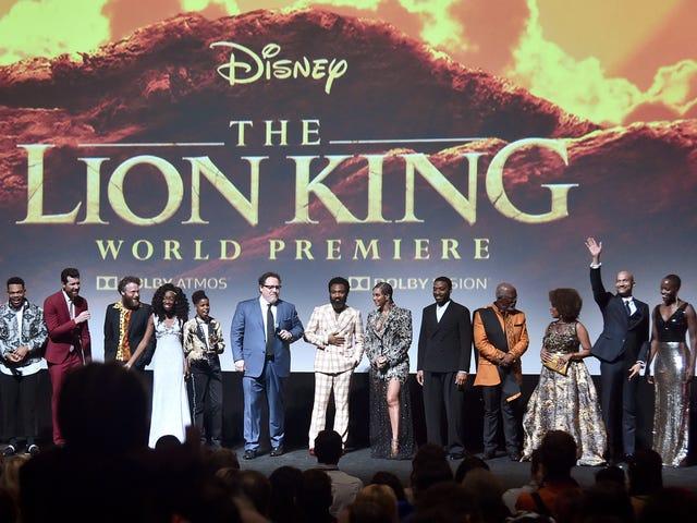 Alle Animal Print, Metallics, Feathers og Beyoncé på The Lion King Premiere