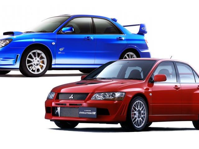 Subaru Impreza WRX and STI VS. Mitsubishi Lancer Evolution: Who Ya Got?