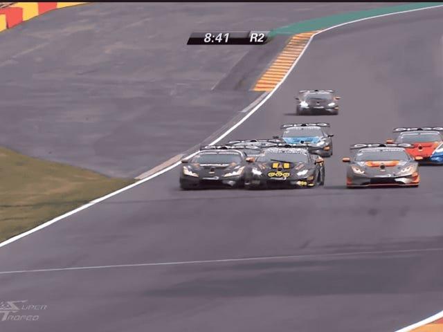 Deze angstaanjagende Lamborghini-crash heeft Four Marshals in Spa van zich afgetrokken