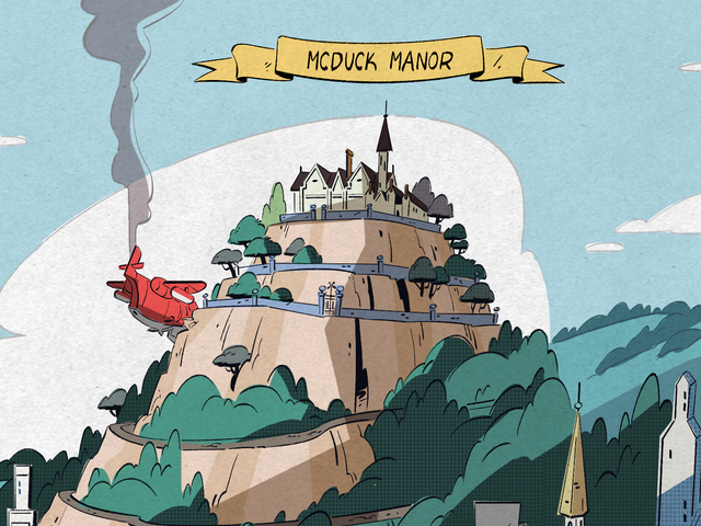 Hipster Ducks, Money Bins, and Gods All Show Up in This New DuckTales Map