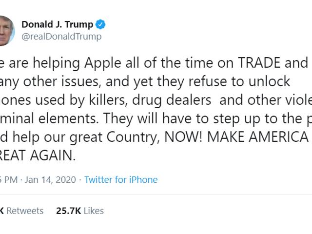 El viejo grita en iCloud