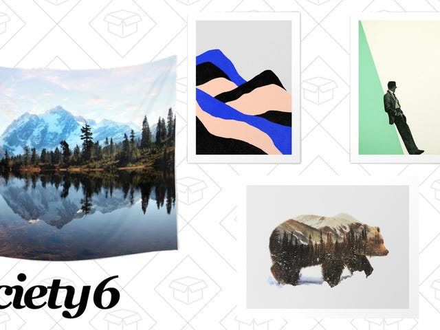 Pretend to Be an Adult With 15% Off Wall Decor, Plus Free Shipping, at Society6