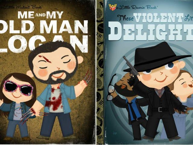 Återigen har dina favorit popkulturegenskaper blivit vända till barnens bokomslag
