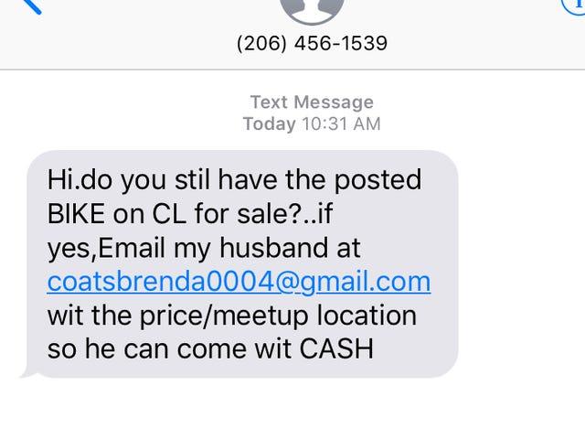 Bantu saya menjawab penipuan Craigslist ini