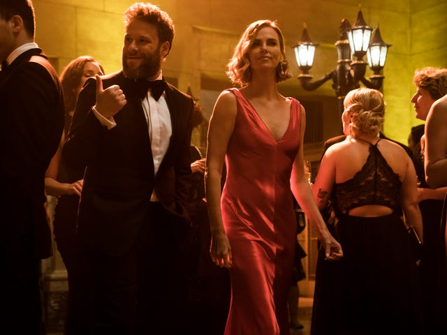 Seth Rogen woos Charlize Theron in the half-assed political rom-com Long Shot