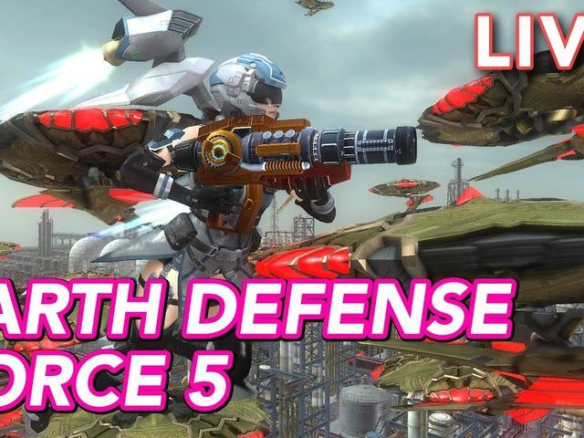 Caso você tenha perdido, nós jogamos Earth Defense Force 5 no nosso canal Twitch mais cedo hoje.  É arco