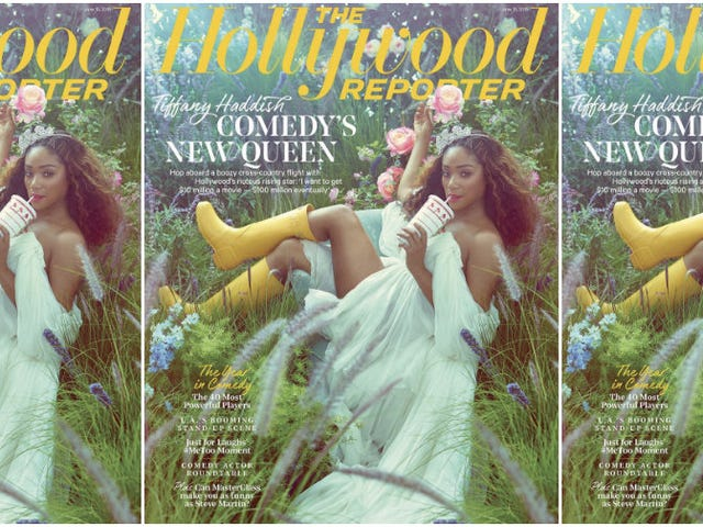 Tiffany Haddish Is a Midsummer Night's Dream on the Cover of the Hollywood Reporter
