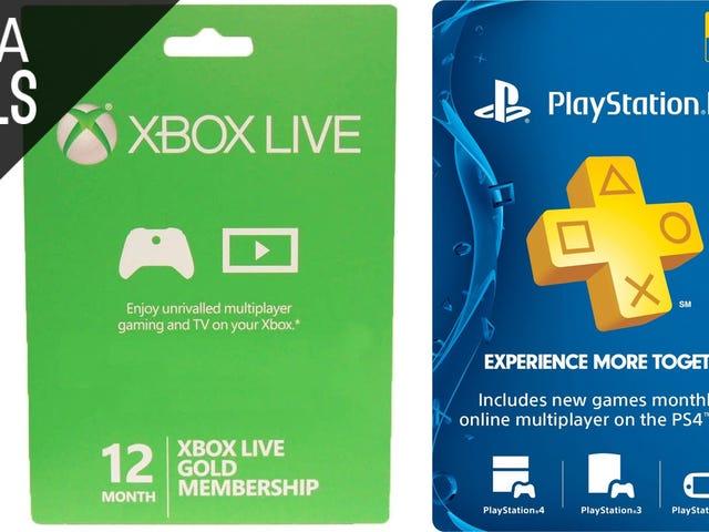 Gem på et andet år i PlayStation Plus og Xbox Live Gold