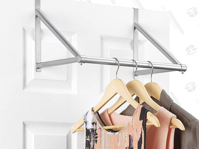 Create More Closet Space With This $8 Over-the-Door Hanging Rack