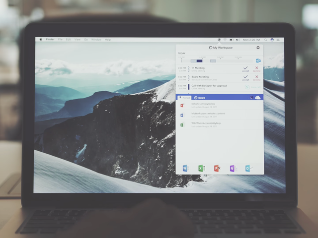 Microsoft's Workspace App Brings Useful Information to Mac Users