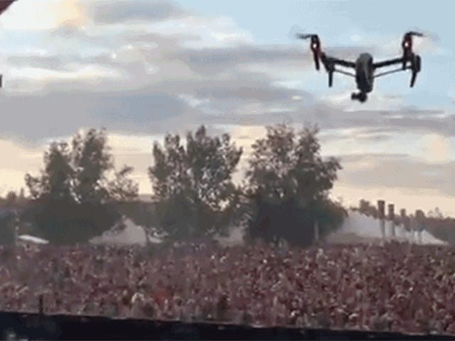 Music Festival Confetti Cannons Might Be Our Only Surefire Defense Against Drones