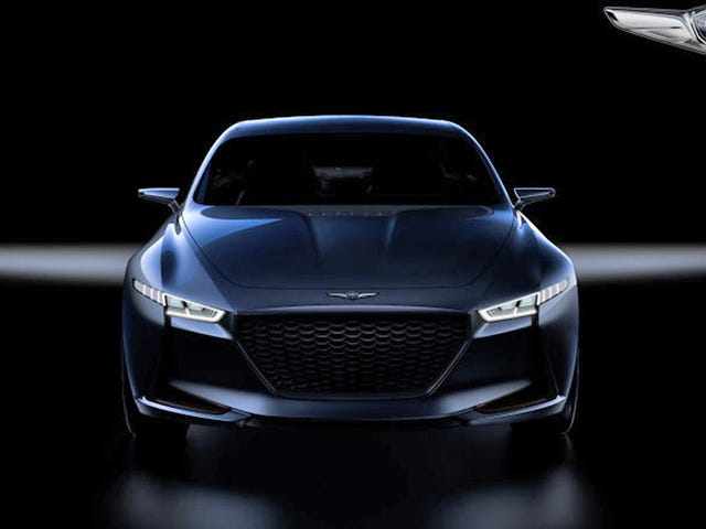 Hyundai calls this the New York Concept, but it's actually the Genesis G70, the new luxury brand's 3