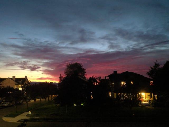 Innan jag glömmer ... Senaste solnedgångar.