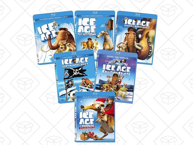 Αποκτήστε αυτό το πακέτο Blu-ray Mammoth Ice Age για $ 30
