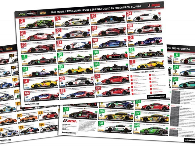 IMSA Spotter Guide for Sebring 12hrs