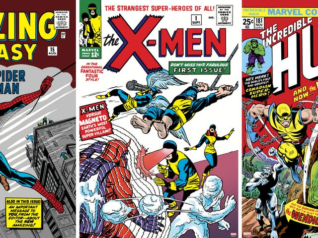 थ्री लीजेंडरी मार्वल कॉमिक्स कवर्स लिमिटेड एडिशन पोस्टर ट्रीटमेंट मिल रहा है